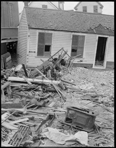Storm damage, North Shore