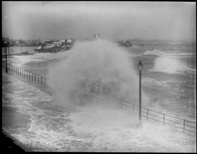 Huge surf raises havoc at Roughan's Point, Beachmont, Revere