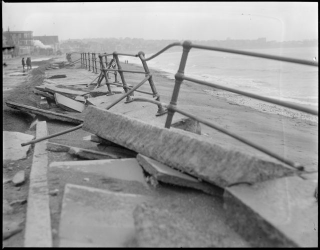 Shore Drive, Winthrop, destroyed by storm