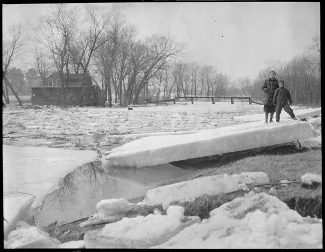 Flood waters, New England flood