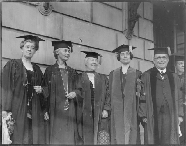 Mrs. Coolidge - 4th from left - at B.U. commencement