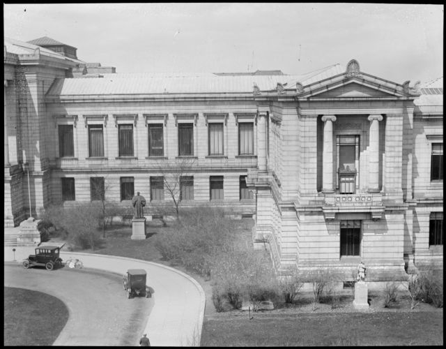 Museum of Fine Arts, Huntington Ave. (Right center of panorama)