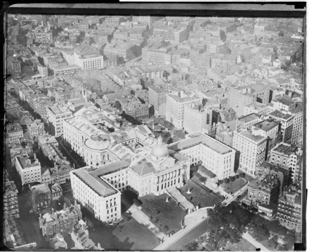 Aerial view, State House