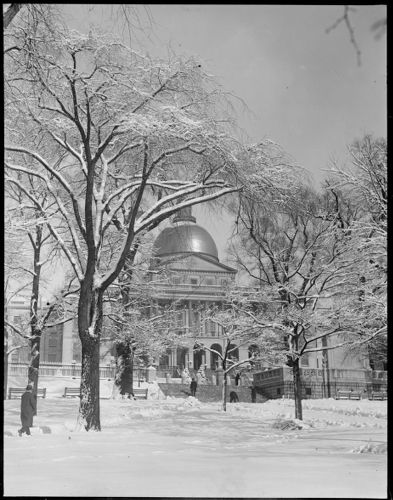 State House - after a snowstorm
