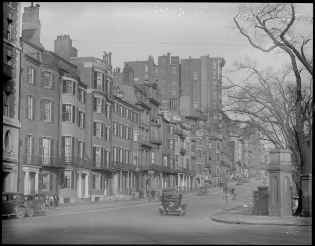 Beacon Street at corner of Charles St.