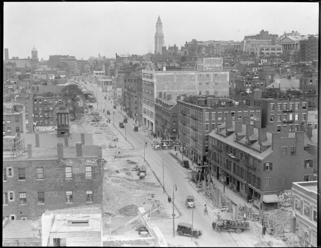 The widening of Cambridge Street