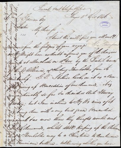 Letter from Andrew Paton, Glasgow, [Scotland], to William Lloyd Garrison, 2d Dec[ember] 1846
