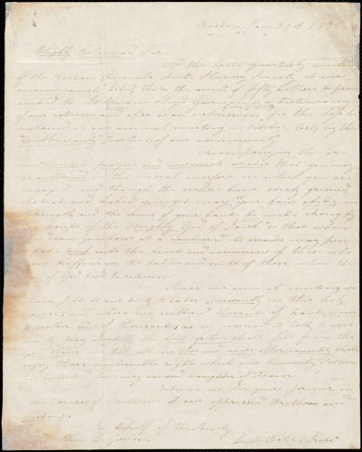 Letter from Lucy M. Ball, Boston, [Mass.], to William Lloyd Garrison, Jan[uary] 30th 1836