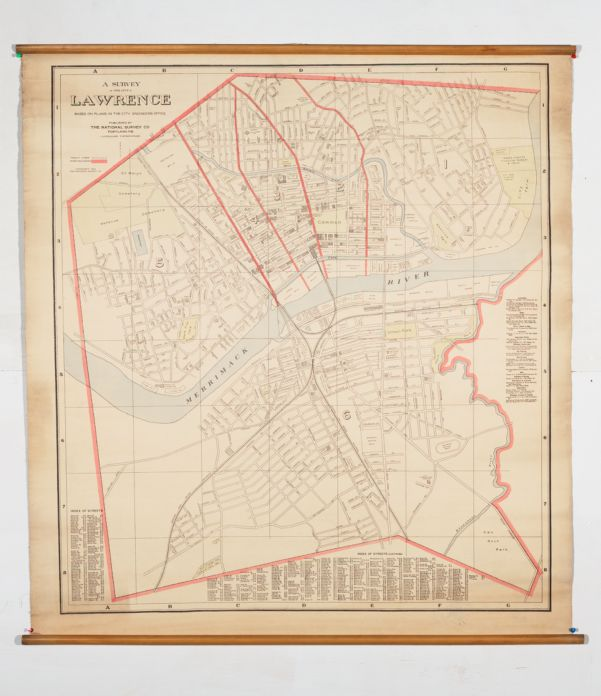 A survey of the city of Lawrence, based on plans in the City Engineers office