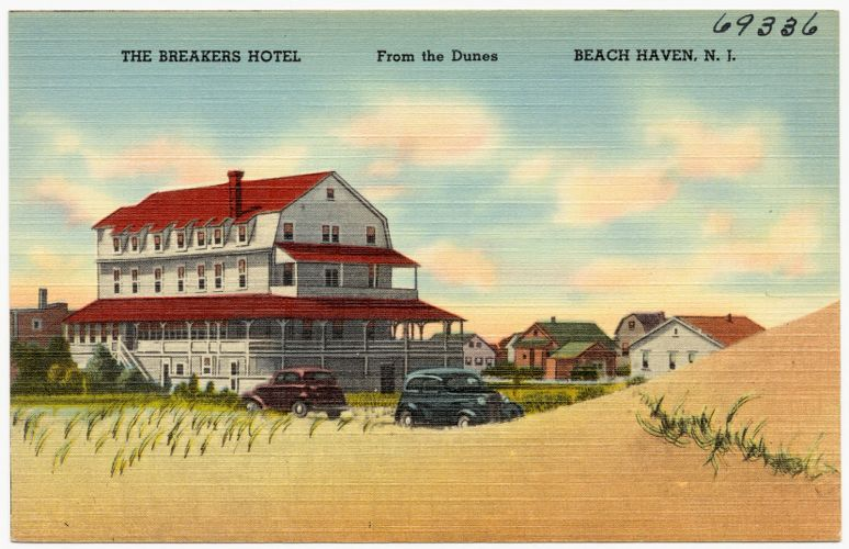 The Breakers Hotel, Beach Haven, N. J., from the dunes