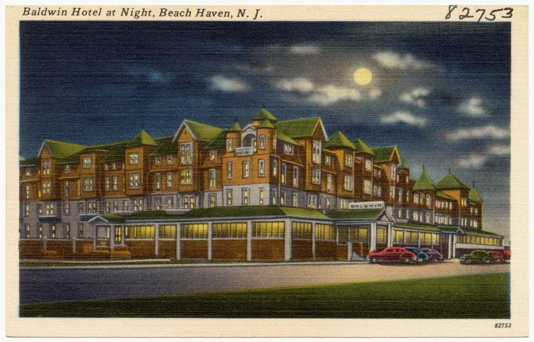 Baldwin Hotel at night, Beach Haven, N. J.