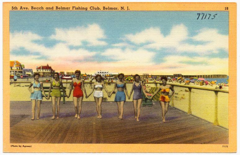 5th Ave. beach and Belmar Fishing Club, Belmar, N. J.