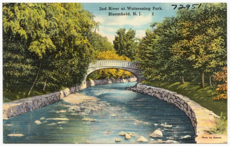 2nd river at Watsessing Park, Bloomfield, N. J.
