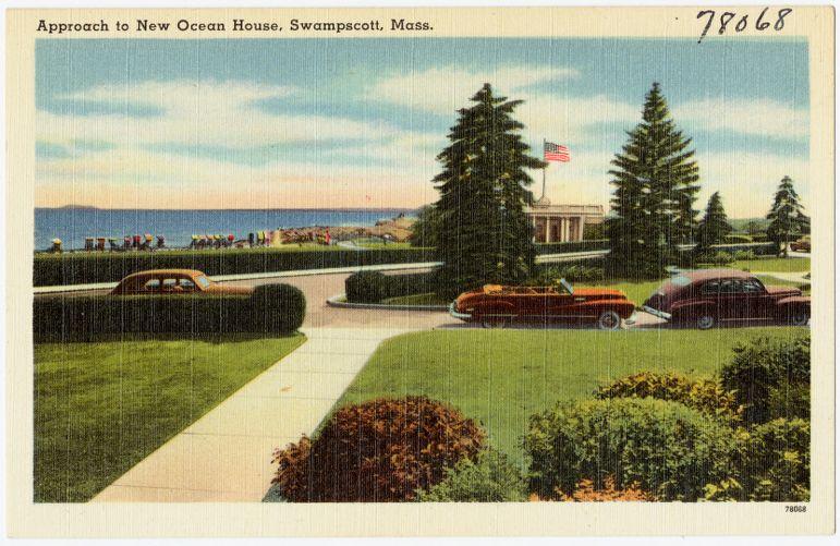 Approach to New Ocean House, Swampscott, Mass.