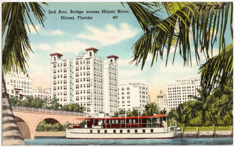 2nd Avenue bridge, across Miami River, Miami, Florida