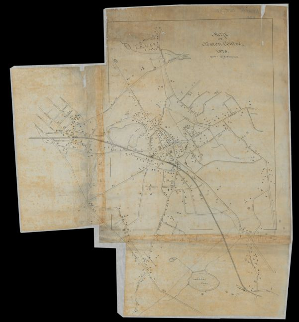 Map of Newton Centre, 1878. -