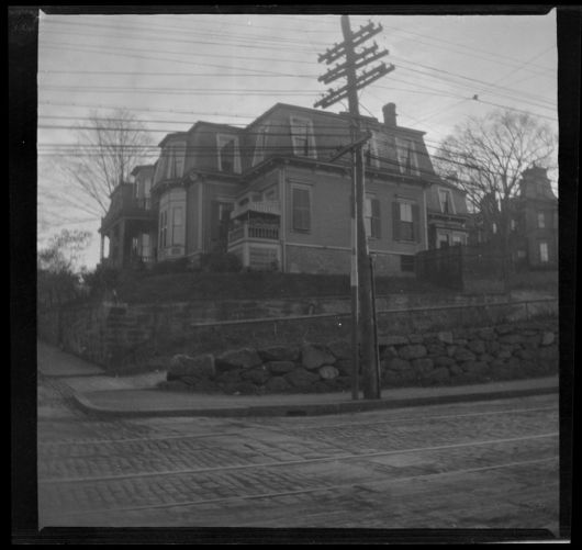 42 Highland Ave, Roxbury, Mass., before the new wall on Centre St. was built in 1936