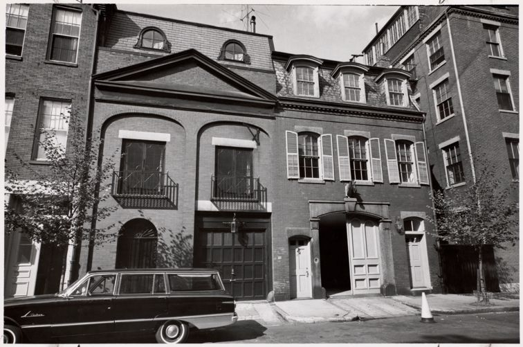 Lower Chestnut St. stables that have been converted to homes