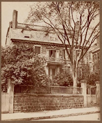 Hancock House, Beacon Street. Built by Thomas Hancock, 1737. Razed 1863