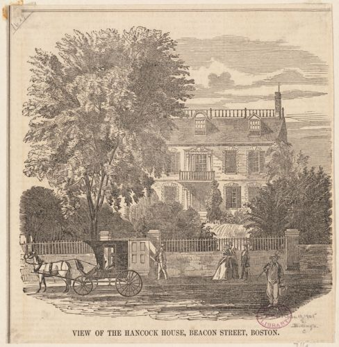 View of the Hancock House, Beacon Street, Boston