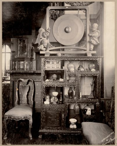 Boston. Fenway Court. Chinese room. A corner showing ebony cabinet