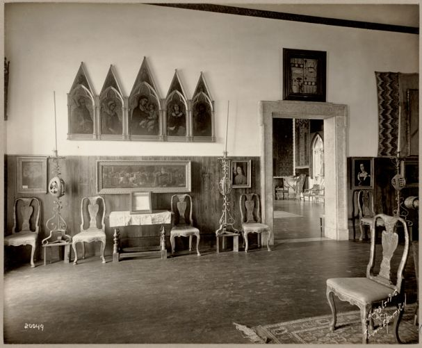 Boston. Fenway Court. Early Italian room, looking toward Raphael room