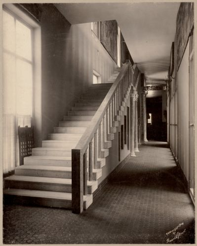 Boston, Massachusetts. Fenway Court. Corridor looking from Dutch room up stairway