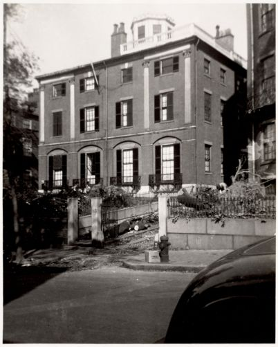 No. 85 Mount Vernon Street. Designed by Charles Bulfinch 1800-1802
