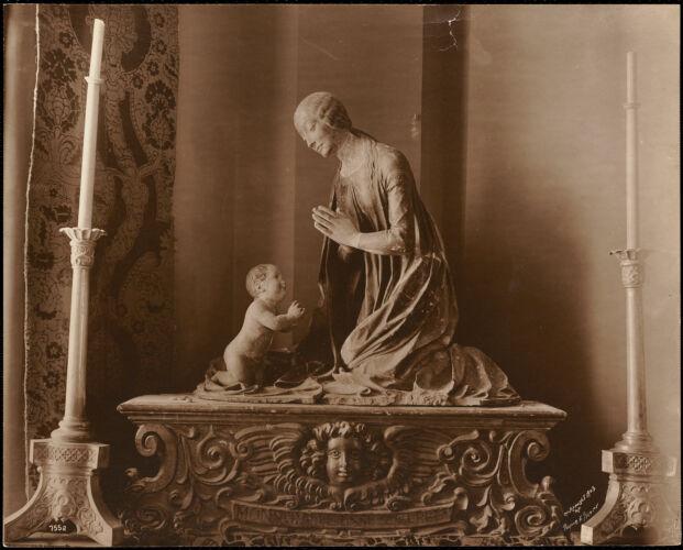 View of sculpture in Fenway Court