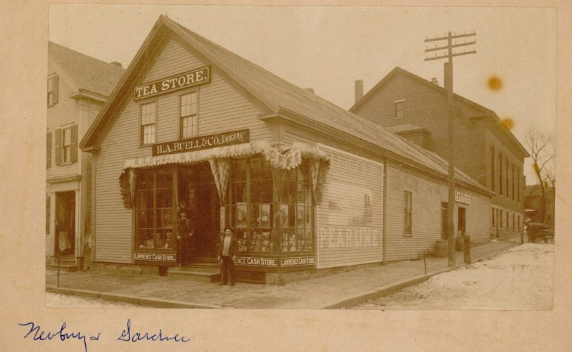 View of H.A. Buell & Co. Grocers and Tea Store, Lawrence, Mass.