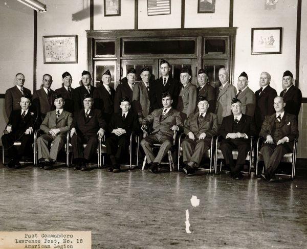 Past commanders Lawrence Post, No. 15 American Legion