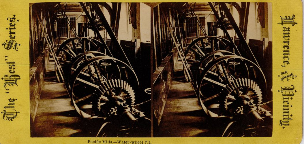 Pacific Mills, water wheel pit