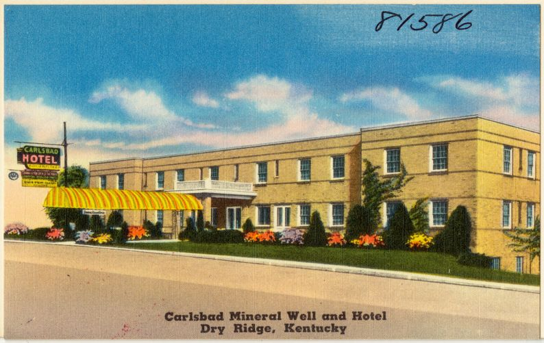 Carlsbad Mineral Well and Hotel, Dry Ridge, Kentucky