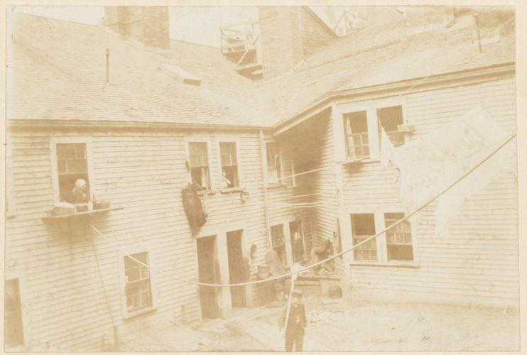 Rear of old Wells House, Salem St.