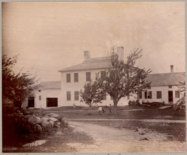 Home of John McCerillis with Mr. Alfred W. Neale - So. Royalston - Mass.