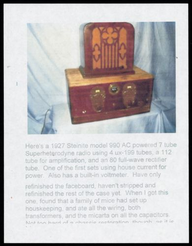 1927 Steinite radio, model 990