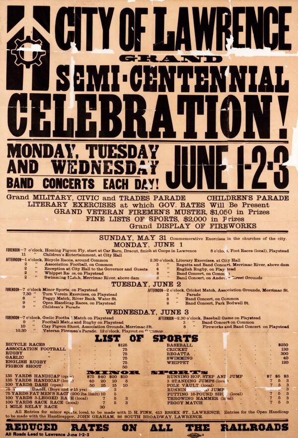 City of Lawrence grand semi-centenial celebration