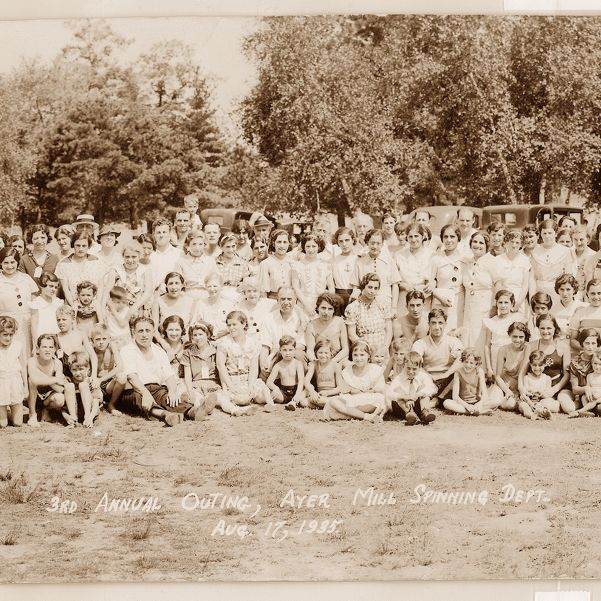 3rd annual outing Ayer Mill Spinning Dept. Aug. 17, 1935