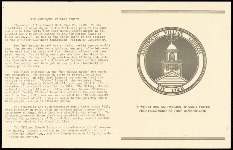 House tour to benefit Annisquam Village Church July 12, 1961