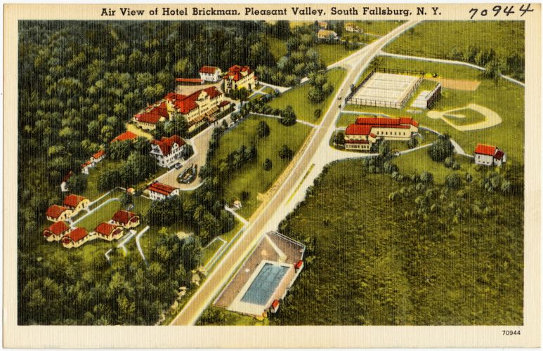 Air view of Hotel Brickman, Pleasant Valley, South Fallsburg, N. Y.