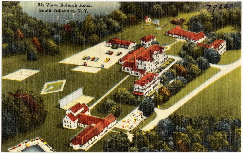 Air view, Raleigh Hotel, South Fallsburg, N. Y.