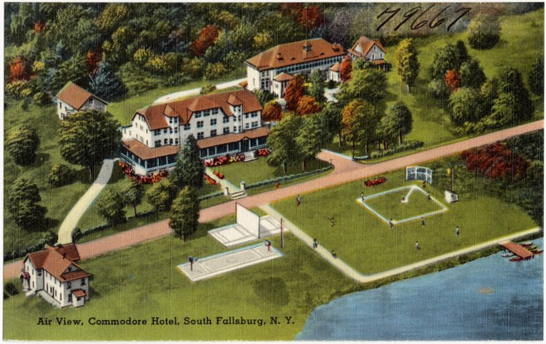 Air view, Commodore Hotel, South Fallsburg, N. Y.