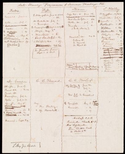Anti-Slavery Programme of Summer Meetings: 1855
