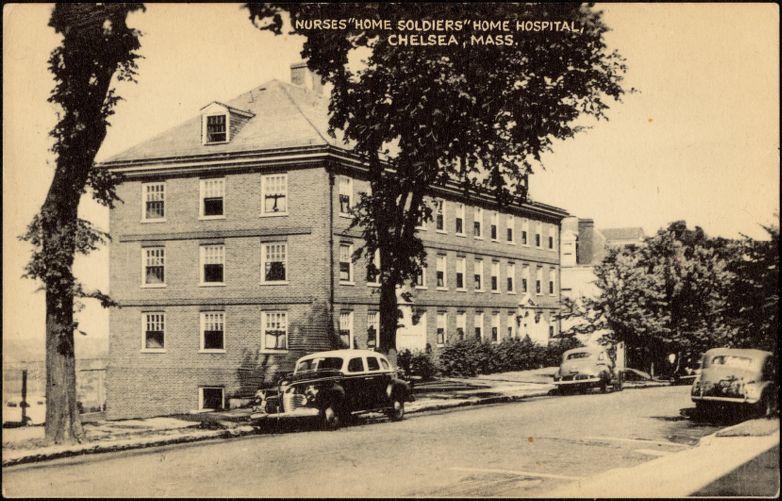 "Nurses ""home soldiers"" home hospital, Chelsea, Mass."