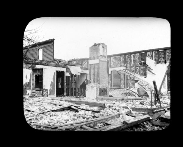 Demolishing Fellows house