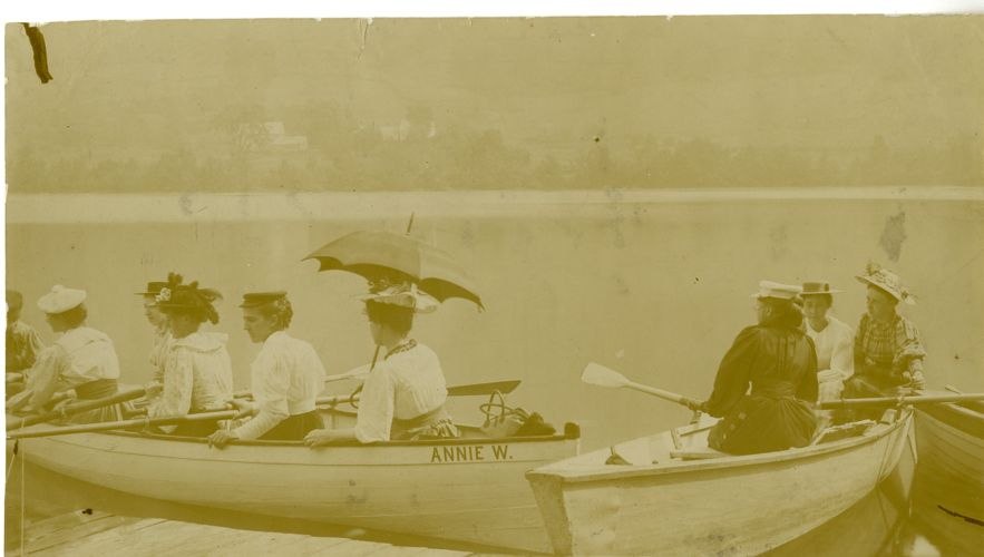 Portrait of students at Lake Asquam, N.H.