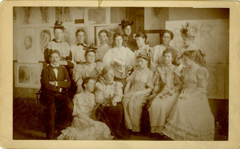 A group of students with faculty after graduation of 1894