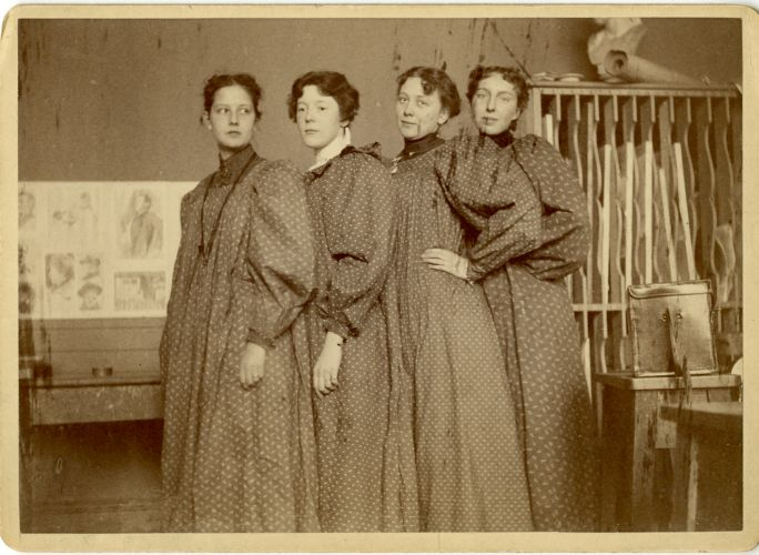 A group of students from the class 1898