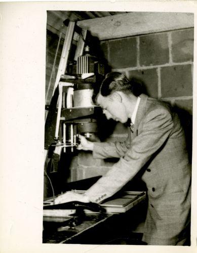 Student in the darkroom