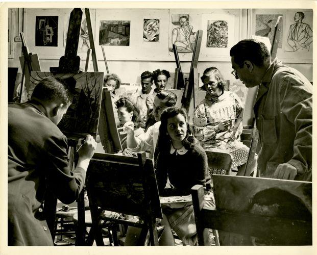 Lawrence Kupferman teaching painting class
